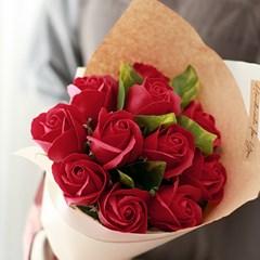 비누장미 11송이 꽃다발 (레드)_(412543)