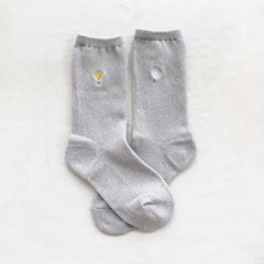 embroidery socks_dandelion