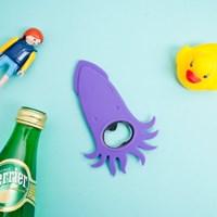 귀여운 오징어 실리콘 오프너-병따개