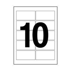 [106345]오피스라벨(10칸/100매/OfficeDEPOT)