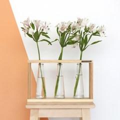 꽃병 원목 받침대
