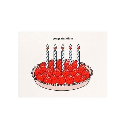 케이크 카드- 딸기타르트(축하)