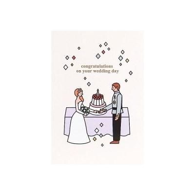 케이크 카드- 웨딩커플