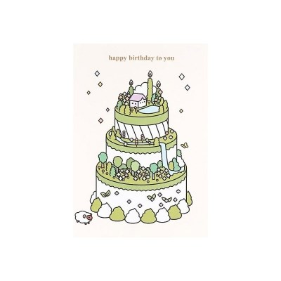 케이크 카드- 그린티