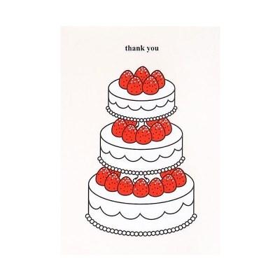 케이크 카드- 딸기3단 (땡큐)