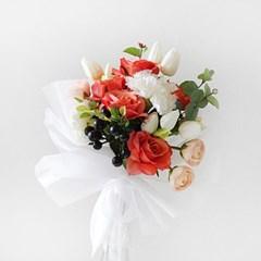 로즈 & 튤립 오렌지 꽃다발