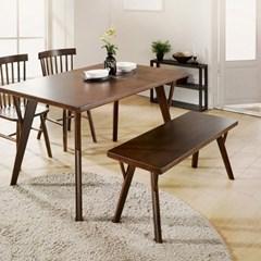 [마루이] 로비니아 러버트리원목 1400식탁+벤치의자2개
