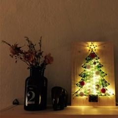 LED 크리스마스 트리 스트링아트 만들기 패키지 DIY