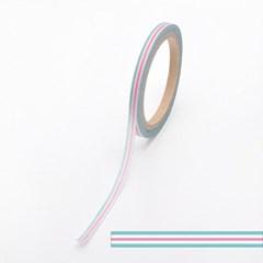 월드크라프트 민트핑크가로줄무늬 마스킹테이프