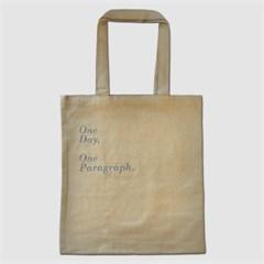 1 Paragraph Canvas Bag-Beige