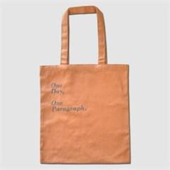 1 Paragraph Canvas Bag-Apricot