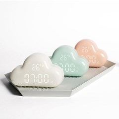 이비자 구름 LED 알람탁상시계