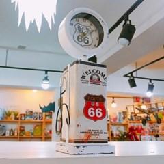 66주유기 스탠드 시계
