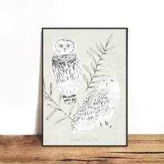 인테리어액자 OWL 02