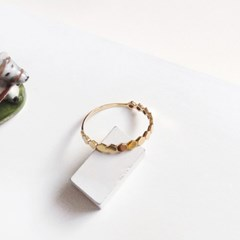 14k gold hive simple ring