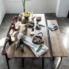 마이 시그니처 런더너 원목 테이블 6인 벤치세트(빈티지_(11810885)