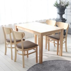 스칸디 퓨어 4인 식탁 세트 A_(10847027)