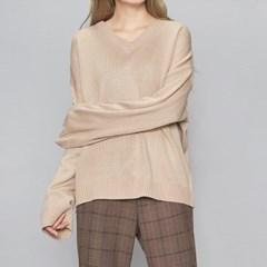 V-neck long sleeve knit (6 colors)_(440874)