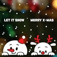 크리스마스 눈꽃 스티커 장식/빼꼼 시리즈 3종 모음_(411914)