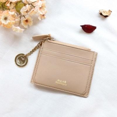 [★별자리 키링 증정] D.LAB Coin simple card wallet - beige
