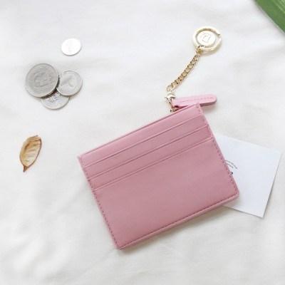 [★별자리 키링 증정] ]D.LAB Coin simple card wallet - Pink