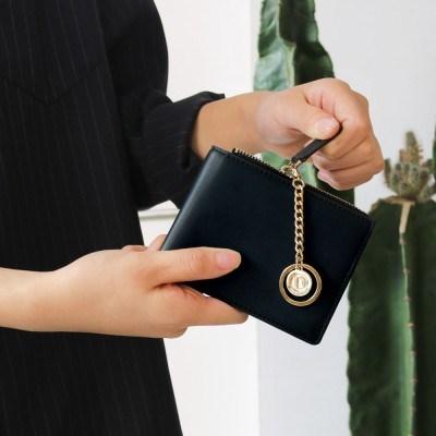 [★별자리 키링 증정] D.LAB Coin Half wallet - Navy