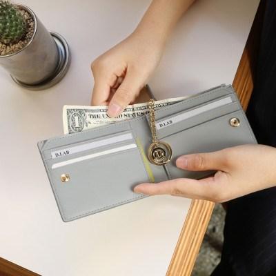 [★별자리 키링 증정] D.LAB Coin Half wallet - Gray