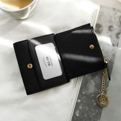 [★별자리 키링 증정] D.LAB Coin name card wallet - Black