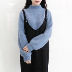 Angora twist knit
