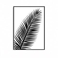 북유럽 식물액자 나뭇잎 야자수 팜트리