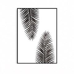 북유럽 식물액자 야자수잎 보타니컬 팜트리
