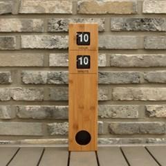 타워 원목플립시계