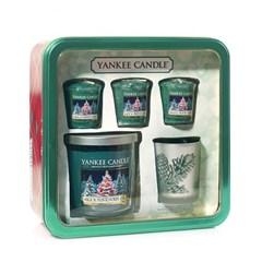 양키캔들[정품] 텀블러 & 보티브 크리스마스 선물세트