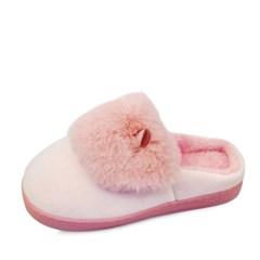 Cute rabbit fur slippers_KM16w281