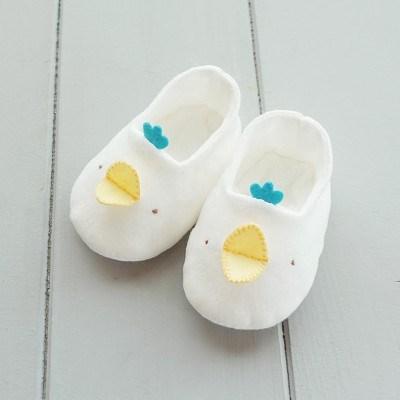 유기농 삐약이 꼬까신 아기신발 만들기(아이보리/핑크/블루)