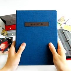 THE MOMENT 제이로그 접착식앨범X스크랩북 바인더-딥블루