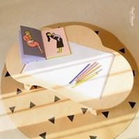 [아이 미술책상] 유럽산 하드우드_원목_구름 스케치테이블