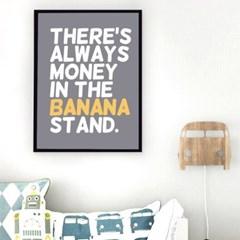 타이포 바나나 캔버스 포스터