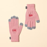 LOVE HATE SMART GLOVE (PINK