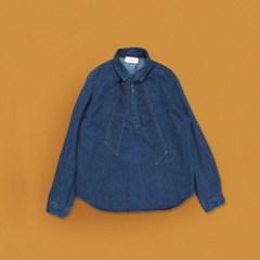 [유라고]denim v neck shirt