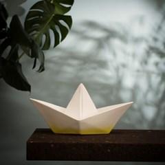 Paper boat lamp - yellow dip
