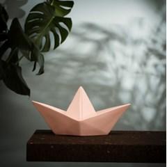 Paper boat lamp - pastel pink