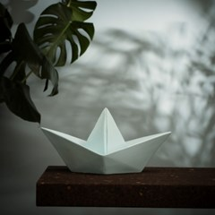 Paper boat lamp - mint
