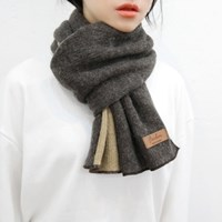 Wool two-tone muffler