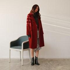 Wool double loose coat