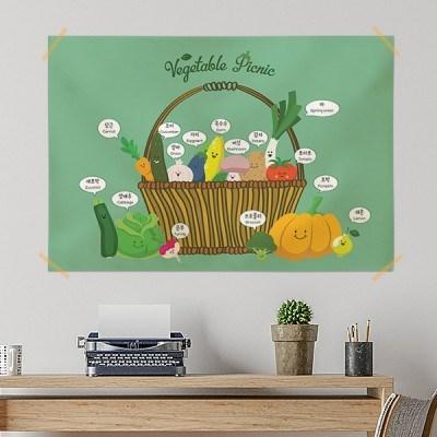 키즈 패브릭 포스터 / 교육용 베이비 포스터(라지사이즈)