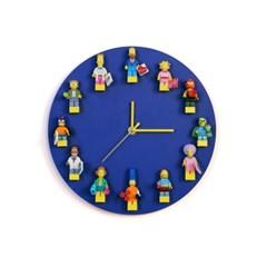 메이드바이미 LEGO 미니피규어 컬러벽시계(Blue)