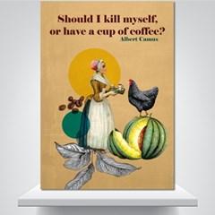 카뮈의 커피 - 감성그림 폼보드 액자