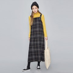 vintage check overall long ops (2 colors)_(471324)
