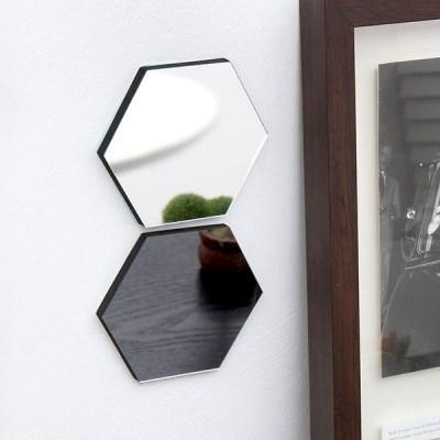 샌드위치 스마트 보드 육각거울-SILVER
